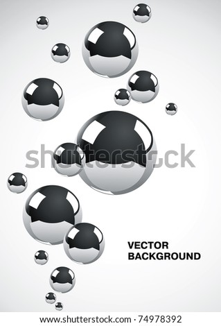 Abstract background of a set of metal balls
