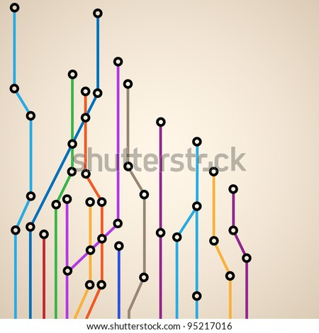 Abstract background of a subway map.Vector eps10 - stock vector