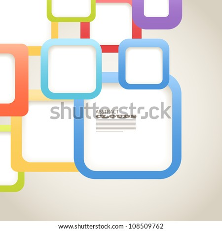 Abstract Background of color boxes with blank area for any content - stock vector