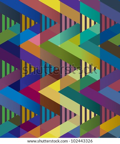 Abstract background of colorful geometric shapes. - stock vector