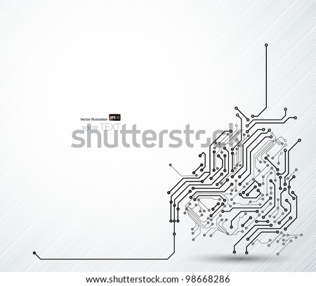Abstract background of digital technologies - stock vector