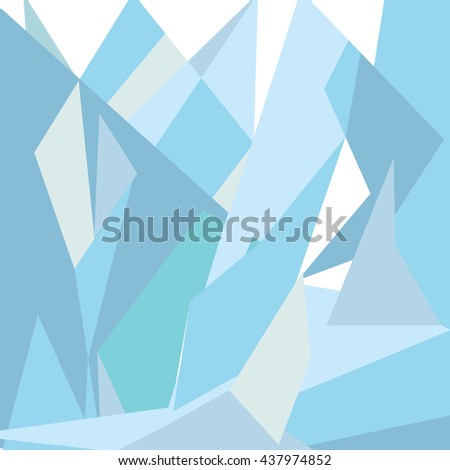 Abstract background of green and blue, composed of triangles of different sizes. Vector background for the cover notebooks, exercise books, cosmetic products. Modern design and bright color - stock vector