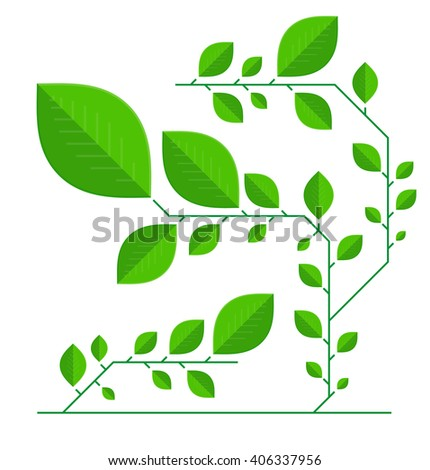 Abstract background of green leaves. It can be used for backgrounds, posters, infographic, etc. - stock vector