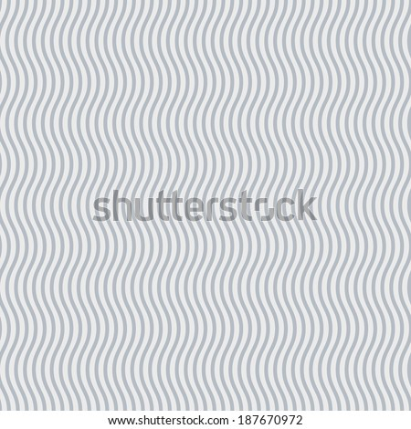 Abstract background of grey and white wavy lines - stock vector