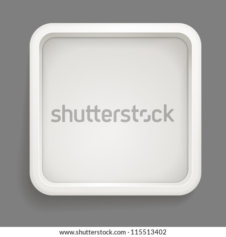 Abstract background of grey box. Template for a text - stock vector