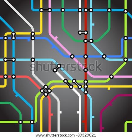 Abstract background of metro scheme - stock vector