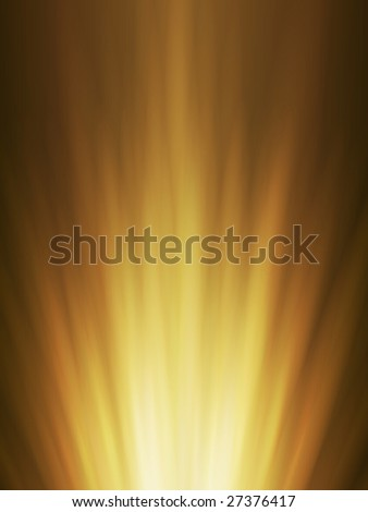 Abstract background of orange glowing explosion rays - stock vector