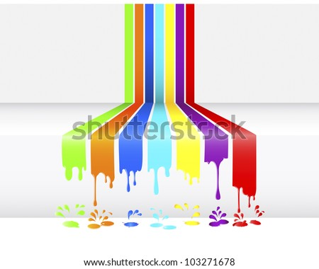Abstract background of paint dripping, blots and drops. Vector illustration.