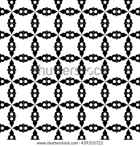 Abstract background of seamless fashion geometric patterns - stock vector
