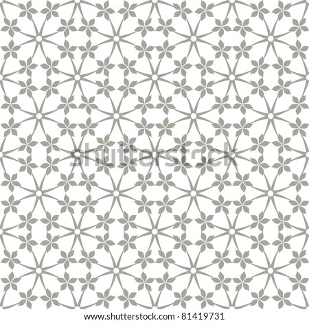 Abstract background of seamless floral and dots pattern - stock vector
