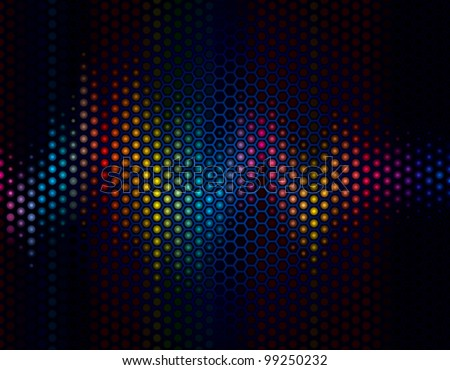 Abstract background of sound wave with speaker grille. - stock vector