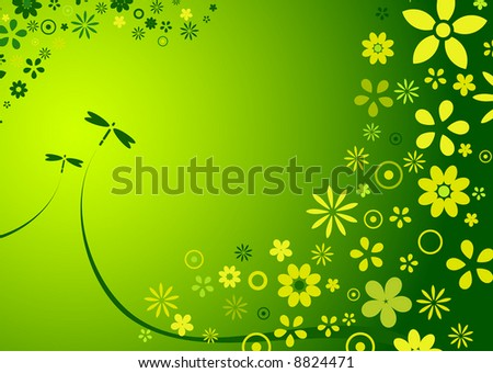 abstract background of spring / summer flowers - stock vector