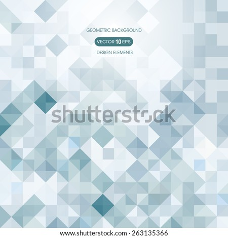 Abstract background of squares with elements of geometry - stock vector