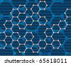 Abstract background of the molecules. Vector illustration - stock vector