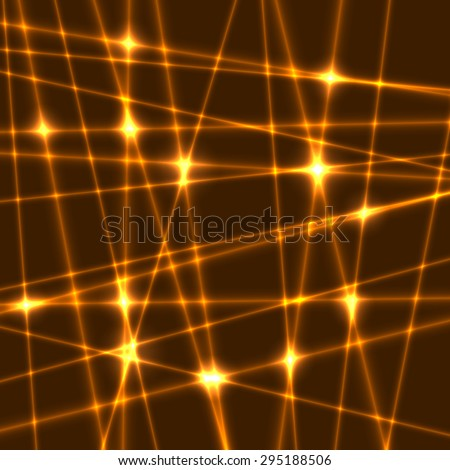Abstract background of the orange laser rays.Laser show with flashes of light and lighting effects. Light laser beams - stock vector