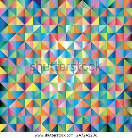 Abstract background of triangles of different colors