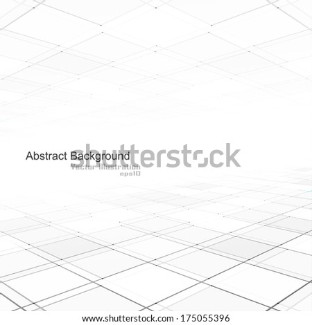 Abstract background of vision perspective. Vector illustration. - stock vector