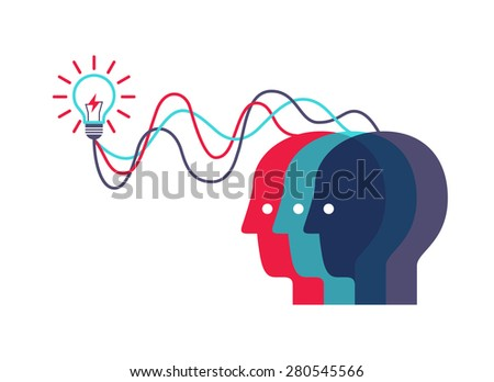 Abstract background on brainstorming to make idea. - stock vector
