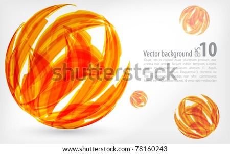abstract background. orange sphere. illustration