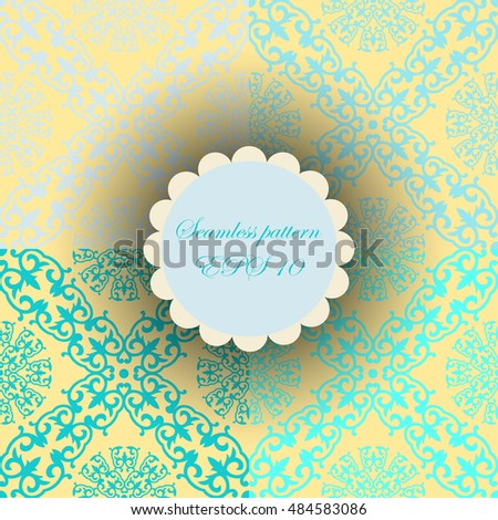 abstract background. ornamental.sky blue siamless pattern