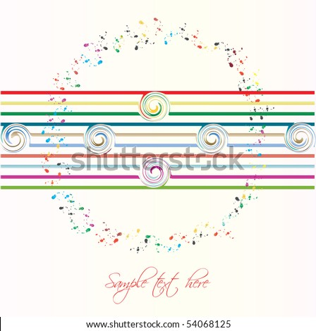 Abstract background - Paint splats - stock vector