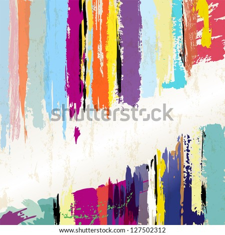 abstract background, paint strokes,with free copy space - stock vector