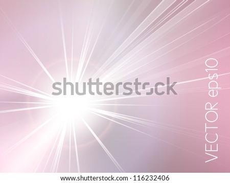 Abstract background pink - starburst - sunburst - stock vector