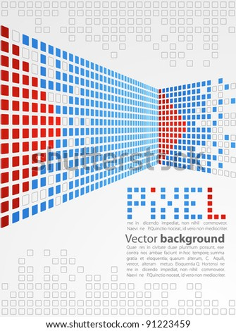 Abstract background. Pixel art. Vector - stock vector