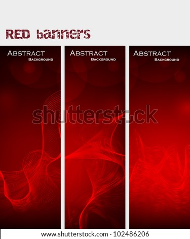 Abstract background. red banners. Vector Illustration - stock vector