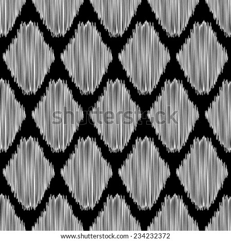 Abstract background. Seamless black and white pattern for textile or wallpaper. Vector illustration. - stock vector
