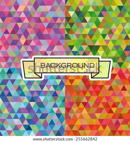 abstract background set of four samples of different colors - stock vector