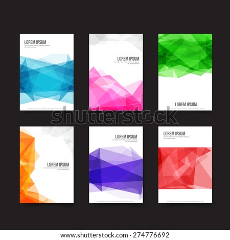 Abstract background - Set of simple light and clear geometry element vector illustration