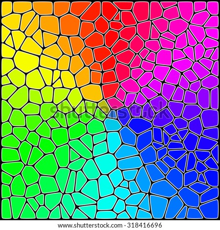 Abstract Background. Stylized Colorful Stained Glass