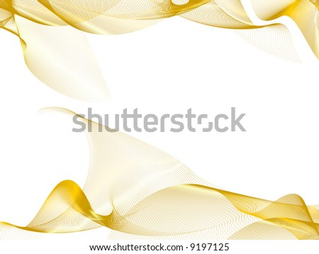 abstract background, stylized waves, place for text - stock vector