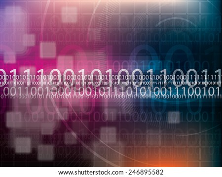 abstract background technology binary code