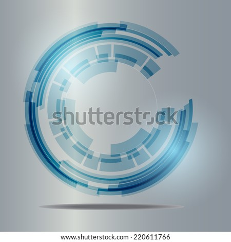 Abstract Background technology design vector Illustration - stock vector