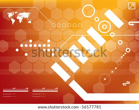 abstract background technology in vector - stock vector