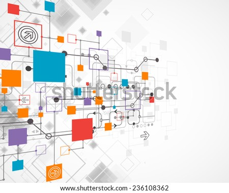 Abstract background, technology theme for your business - stock vector