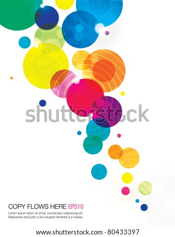 abstract background template design - stock vector