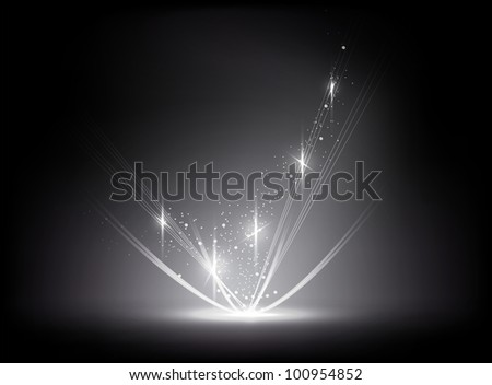 abstract background - the energy flows - stock vector