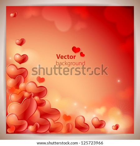 Abstract background to the Valentine's day - stock vector