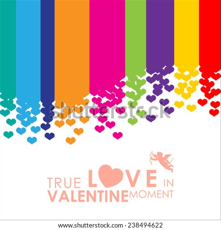 Abstract background to the Valentine's day. Vector Illustration, EPS 10 - stock vector