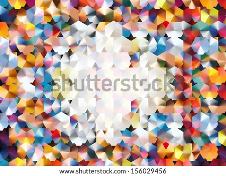 "abstract background using two layers of hexagonal grids and blending modes to achieve a ""confetti-like"" effect"