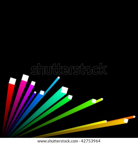 abstract background, vector, colorful 3d stripes