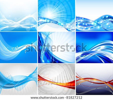 Abstract background vector set - stock vector