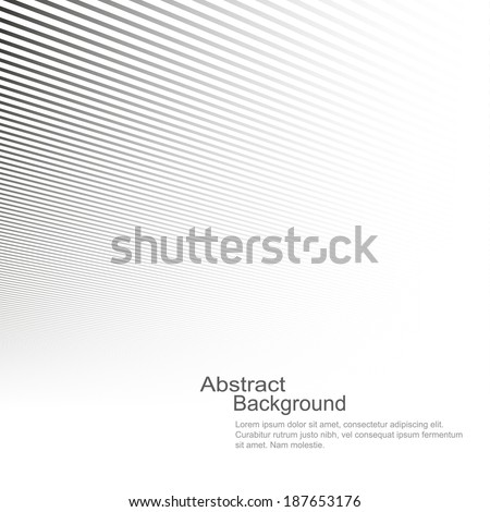 Abstract background, vector template for your ideas, monochromatic lines texture - stock vector
