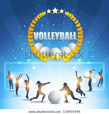 Abstract Background Volleyball Vector Design - stock vector