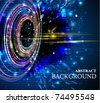 Abstract background whit colorful circles. EPS10. - stock