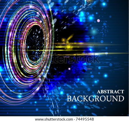 Abstract background whit colorful circles. EPS10. - stock vector