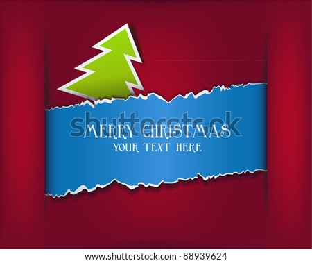 Abstract background with a Christmas-tree